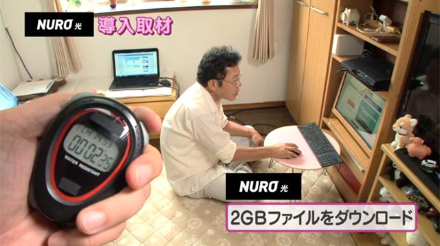2GBのファイルをNURO光の回線でダウンロード